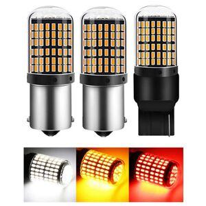 DHgate 1pc 1156 ba15s p21w bau15s py21 led bulbs 3014 144smd led canbus no error t20 7440 w21w lamp for turn signal light no flash