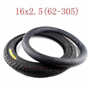 DHgate 16x2.50 62-305 inner outer tire fits electric bike boy's bike schwinn convertible tricycle 16x2.5 16*2.5 electric bicycle tyre1