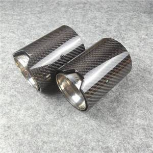 DHgate 1 piece real carbon fiber exhaust tip for m performance car pipe m2 f87 m3 f80 m4 f82 f83 f20 f22 f30