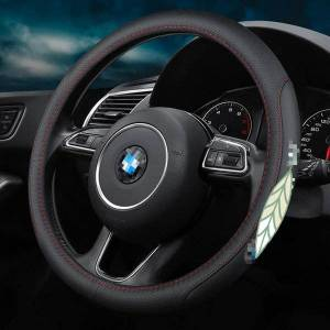DHgate steering wheel covers suitable for x1 x2 x3 x4 x5 x6 x7 m3 m4 m5 m6 1 2 3 4 5 6 7 series logo car cover non-slip 38cm accessories