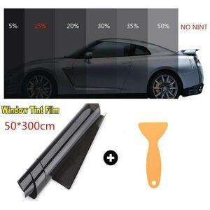 DHgate dark black car window tint film roll 50cm*3m 15% vlt pro home glass with scraper tinting sunshade