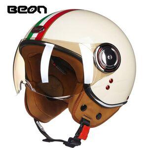 DHgate motorcycle 3/4 half face helmet scooter moto jet vintage retro e-bike headgear ece approved casco 110b helmets