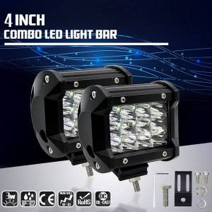DHgate 1 pair led pods light bar 3.8-inch 120-watt 12800-lumen driving fog off road lights triple row waterproof cubes lighting for pickup truck je