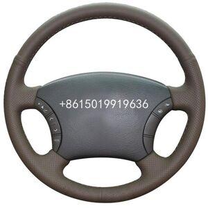 DHgate custom made diy dark brown leather car steering wheel cover for toyota land cruiser prado 120