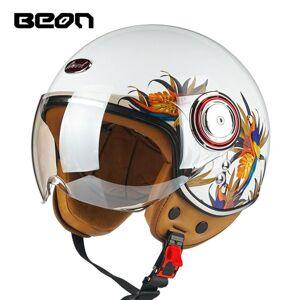 DHgate motorcycle helmets 3/4 open face b-110b scooter helmet beon vintage casco ece certification moto protective gear