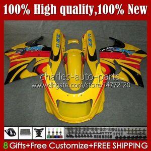 DHgate body kit for kawasaki ninja zx11r zzr 1100 zx-11 r zzr1100 yellow glossy zx11 r zx 11 r 11r 31hc.101 zx-11r 1990 1991 1992 1993 1994 1995 zz