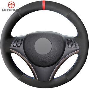 DHgate black suede diy car steering wheel cover for bmw m sport 1 series e87 e81 e82 e88 120i 130i 120d x1 e84 (no drum kits)