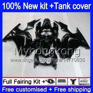 DHgate +tank for kawasaki zx-250r ex-250 zx250r 08 09 10 11 12 201my.1 glossy black ex250 zx 250r ex 250 ex250r 2008 2009 2010 2011 2012 fairings