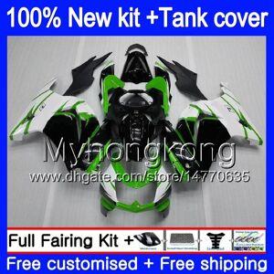 DHgate +tank for kawasaki zx-250r ex-250 zx250r 08 09 10 11 12 201my.4 green black ex250 zx 250r ex 250 ex250r 2008 2009 2010 2011 2012 fairings