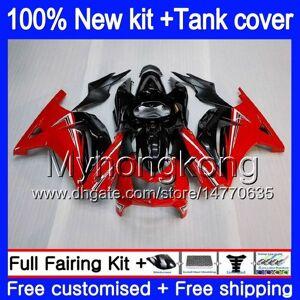 DHgate +tank for kawasaki zx-250r ex-250 zx250r 08 09 10 11 12 201my.9 ex250 zx 250r ex 250 ex250r 2008 2009 2010 2011 2012 black red fairings