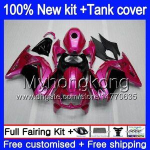 DHgate +tank for kawasaki ex-250 zx250r 2008 2009 2010 2011 2012 pearl rose 201my.60 ex250 zx 250r ex 250 zx-250r ex250r 08 09 10 11 12 fairing