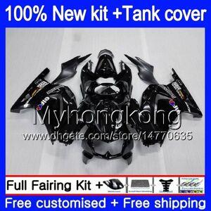 DHgate +tank for kawasaki ex-250 zx250r 2008 2009 2010 2011 2012 201my.47 ex250 zx 250r ex 250 zx-250r ex250r 08 09 10 11 12 stock black fairing