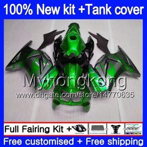DHgate +tank for kawasaki zx-250r ex-250 zx250r 08 09 10 11 12 201my.23 ex250 zx 250r ex 250 ex250r 2008 2009 2010 2011 2012 green grey fairings
