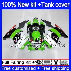 DHgate +tank for kawasaki ex-250 zx250r 2008 2009 2010 2011 2012 white green 201my.48 ex250 zx 250r ex 250 zx-250r ex250r 08 09 10 11 12 fairing