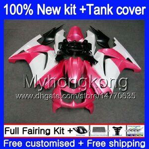DHgate +tank for kawasaki ex-250 zx250r 2008 2009 2010 2011 2012 201my.53 pink white ex250 zx 250r ex 250 zx-250r ex250r 08 09 10 11 12 fairing