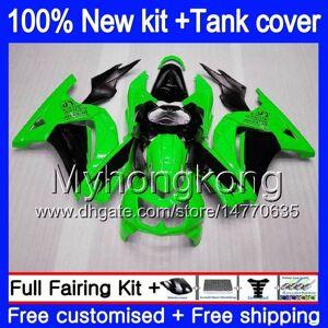 DHgate +tank for kawasaki ex-250 zx250r 2008 2009 2010 2011 2012 201my.35 ex250 zx 250r ex 250 zx-250r ex250r 08 09 10 11 12 nice green fairing