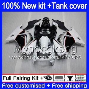 DHgate +tank for kawasaki zx-250r ex-250 zx250r 08 09 10 11 12 201my.2 ex250 zx 250r ex 250 ex250r 2008 2009 2010 2011 2012 white black fairings