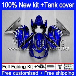 DHgate +tank for kawasaki ex-250 zx250r 2008 2009 2010 2011 2012 blue silvery 201my.39 ex250 zx 250r ex 250 zx-250r ex250r 08 09 10 11 12 fairing