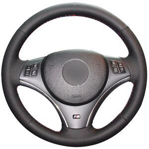 DHgate black synthetic leather car steering wheel cover for bmw e90 325i 330i 335i e87 120i 130i 120d
