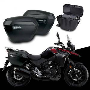 DHgate for suzuki v-storm dl250 dl 250 shad sh23 side boxs+rack set motorcycle luggage case saddle bags bracket carrier system