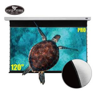 DHgate vividstorm pro 120 inch drop down motorized 4k laser tv projector screen ambient light rejecting office video white housing vmslust120h