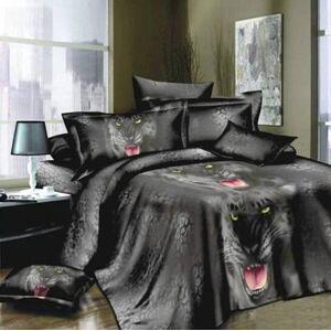 DHgate wholesales 4pcs 3d printed bedding set bedclothes black tiger duvet bedding sets