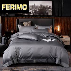 DHgate pure egyptian cotton solid color bedding set ultra soft ( duvet cover bed sheet pillow shams) queen king size 4/6pcs