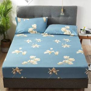 DHgate new product cotton printed fitted sheet mattress cover four corners with elastic band bed sheet(no cases) dropshipping t1