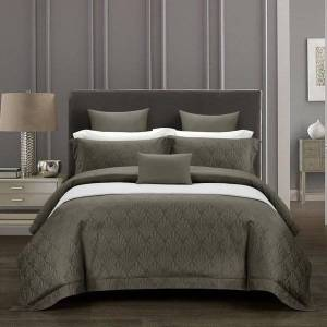 DHgate 600tc egyptian cotton queen king size 4pcs bedding set deep grey/navy ultra soft silky duvet cover bed pillowcase sheet set