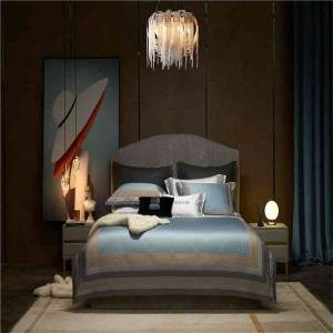 DHgate premium egyptian cotton ultra duvet cover bed sheet pillowshams chic embroidery bedding set silky soft breathable 4pcs