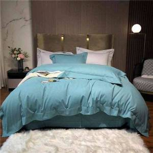 DHgate luxury white duvet cover bed sheet 1000tc egyptian cotton quality ultra silky soft premium 4pcs bedding set queen king size