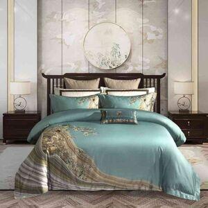 DHgate ultra-soft elegant chinoiserie 4pcs duvet cover bed sheet pillow shams 1000tc egyptian cotton luxury bedding set queen king