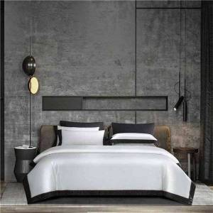 DHgate 4pcs white grey 1000tc luxury silk satin+cotton duvet cover set ultra soft egyptian cotton bed sheet pillowcases anti-wrinkle