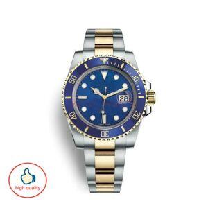 DHgate ceramic mens mechanical stainless with logo bule black designer watch orologi da uomo di lusso big bang watch