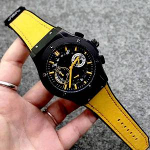 DHgate 2-4men analog watch 40mm quartz movement date calendar all dial work leather strap orologio uomo luxury montre de luxe designer watches