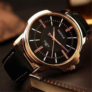 DHgate wristwatches watch quartz analog wrist black band dial faux leather mens blu-ray roman numerals minimalist 2021