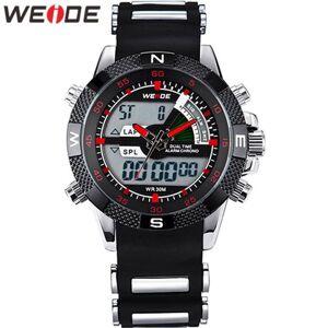 DHgate wristwatches weide watch men relogio masculino quartz military satch alarm analog digital silicone wristwatch clock watches