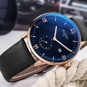 DHgate wristwatches classic black leather strap quartz watches men business analog date watch waterproof sports clock 2021 relogio masculino