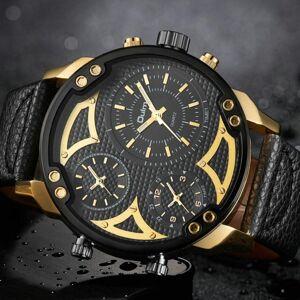 DHgate wristwatches oulm army watch for men fashion casual quartz analog clock sports mens watches big case wristwatch waterproof
