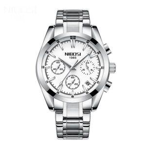 DHgate wristwatches fashion man business watch stainless steel strap analog quartz wrist luxury casual mens sports clock relogio masculino