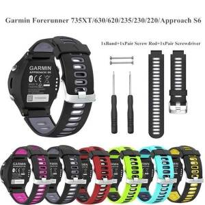 DHgate watch bands outdoor silicone sport band for garmin forerunner 735xt 630 620 235 230 220 approach s6 rubber replacement wristband