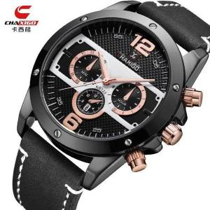 DHgate wristwatches fashion men watches analog quartz 30m waterproof sport date leather band (small dial no work)2021 b3942