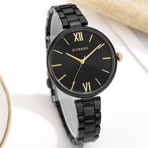 DHgate wristwatches curren women watch fashion ladies dress casual wristwatch bracelet stainless steel women's quartz watches gifts clocks fem