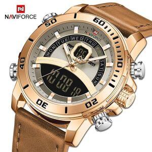 DHgate wristwatches naviforce sport watches men waterproof digital quartz wristwatch male luxury analog alarm clock watch relogio masculino