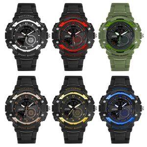 DHgate wristwatches men watch 50m waterproof stainless steel back analog digital watches date satch alarm outdoor wrist