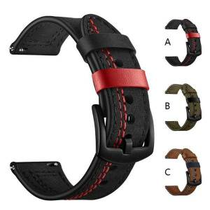 DHgate watch bands leather strap for huawei gt 2 smart samsung galaxy 46mm 42mm bracelet watchband 22mm 20mm