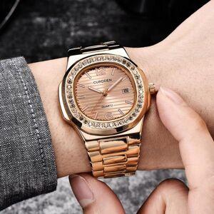 DHgate wristwatches curdden fashion luxury men women watch diamond stainless steel band military analog mens clock quartz wrist watches reloj hombr
