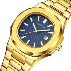 DHgate wristwatches pintime men's watches steel strap clock for male fashion waterproof designer diver watch men 2021