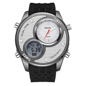 DHgate wristwatches man watch 2021 fashion smael multiple time zone analog digital quartz men sports watches relogio masculino horloge mannen