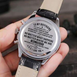 "DHgate wristwatches ""to my boyfriend automatic quartz male engraved watches casual sports men wrist analog 24-hours calendar """